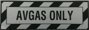 AVGAS ONLY  Decal
