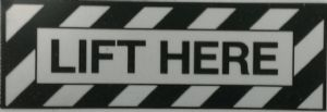 LIFT HERE Decal
