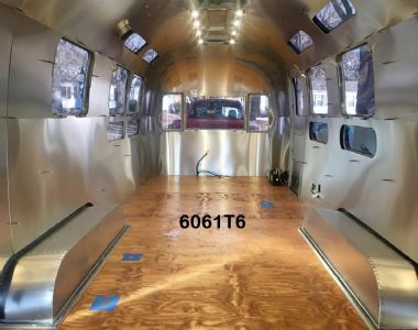 6061T6 & 2024T3 INTERIOR ALUMINUM FOR AIRSTREAM AND VINTAGE TRAILERS